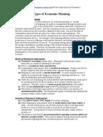 Types of Economic Planning