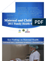 Maternal and Child Health-Family Health Survey for 2011
