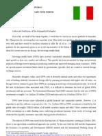 Italy Statement on SWF
