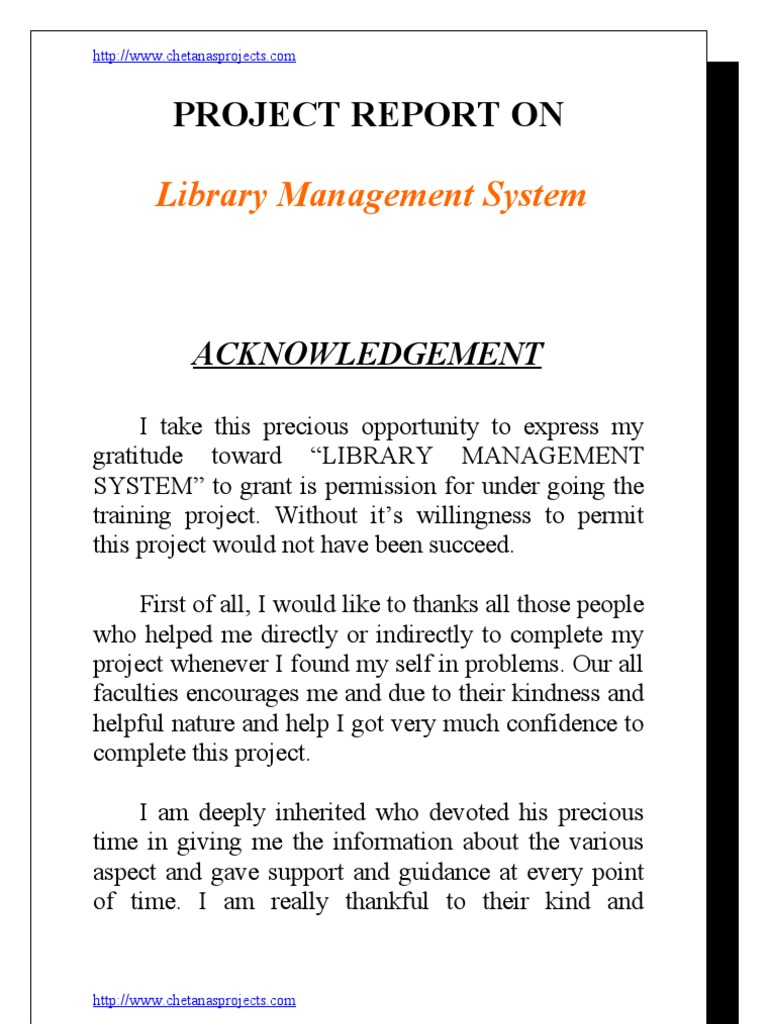 Library management thesis