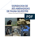 Catego Fauna Amenazada