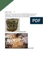 Art in Focus Ch6 - Compare Bulls - Cave -Mesop