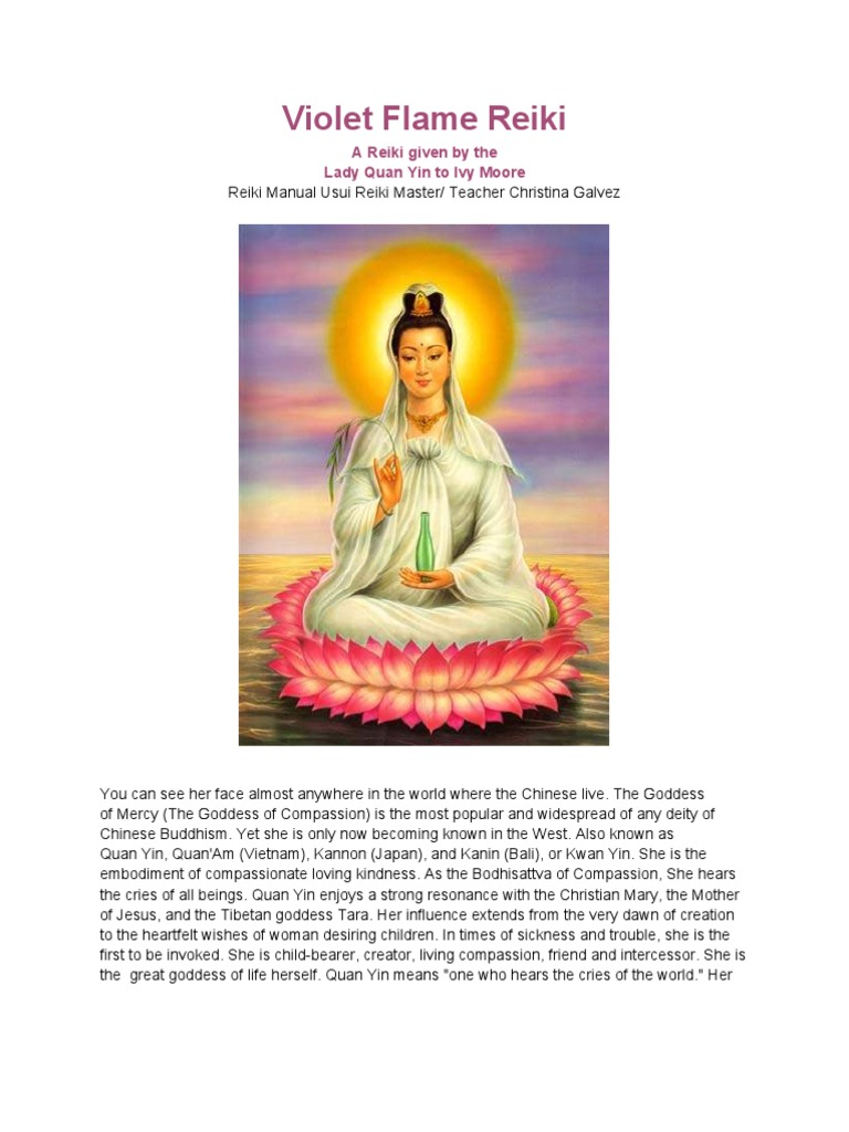 violet flame reiki manaual electromagnetic spectrum rh scribd com Kuan Yin Bodhisattva Kuan Yin Thousand Arms and Eyes