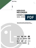 Manual LG Recorder HDD.rh7800H Uk