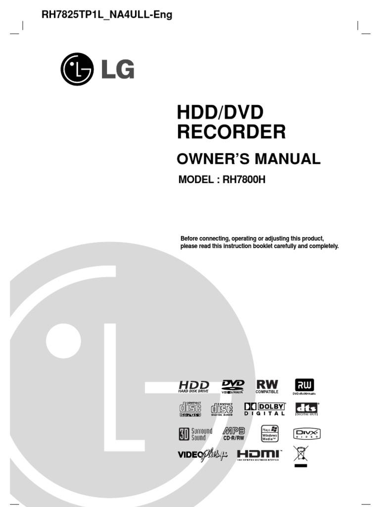manual lg recorder hdd rh7800h uk hdmi compact disc rh scribd com lg hdd/dvd recorder rh266 manual lg hdd dvd recorder rh7500 manuel