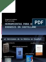 2.- Herramientas Para Una Exegesis en Castellano