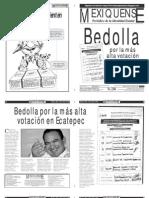 Versión impresa del periódico El mexiquense 3 julio 2012