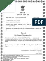 Coi for Ankaih Agros Pvt. Ltd.