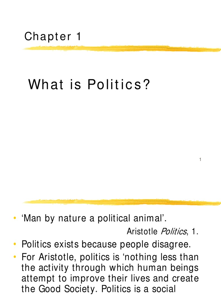 human is a political animal