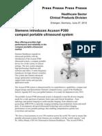 Siemens Acuson P300 Press Release