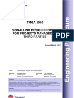 Signalling Design Process for Projects Managed by Third Parties