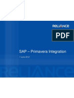 SAP–Primavera IntegrationV2.0