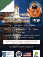 NASA Adm Charles Bolden Lecture at TCD