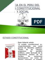 Vigencia en El Peru Del Estado Constitucional y