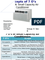 Concepts of 7 O's - Air Conditioners