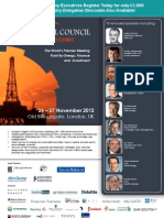 Oil Council World Assembly and Annual Awards, London, Nov 26-27