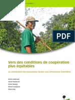 Vers des conditions de coopération plus équitables La contribution des populations locales aux concessions forestières