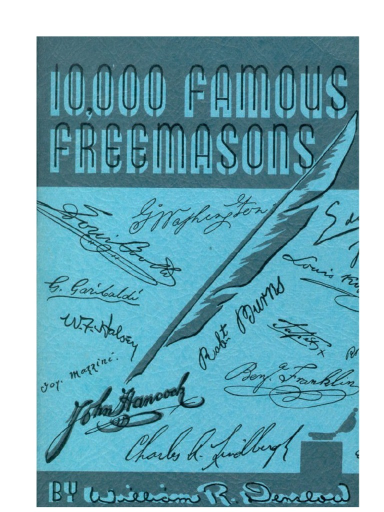 10 000 Famous Freemasons Volume 4 Q-Z | Freemasonry | Masonic Lodge