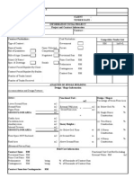 Blank Form Elemental Cost Analysis (ECA) - Form 1