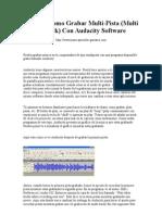 Guia de Como Grabar Multi-Pista (Multi Track) Con Audacity