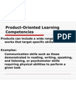 Product-Oriented Learning Competencies