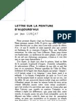 Esprit 2 - 19321101 -  Lurçat, Jean - Lettre sur la peinture d'aujourd'hui