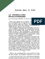 Esprit 2 - 19321101 -  Marc, Alexandre & Dupuis, René - Le Fédéralisme révolutionnaire