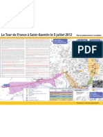 Tour de France / St Quentin Plan Circulation