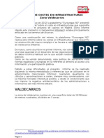 Informe de Costes en Infraestructuras Valdecarros