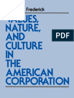 Values Nature & Culture in the American Corporation (Ruffin Series in Business Ethics)