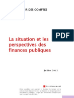 Rapport Cour des Comptes - Synthese Situation Perspectives Finances Publiques 2012
