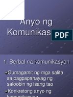 Anyo Ng Komunikasyon
