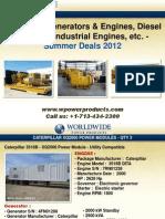 Petroleum Generators & Engines, Diesel Gensets, Industrial Engines, etc. - Summer Deals 2012