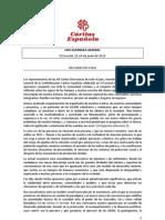 Caritas - Declaración Final 69 Asamblea General