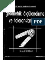 Geometrik Olcumlendirme Ve Toleranslandirma