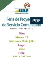 Afiche Feria Servicio Comunitario