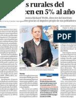 Zonas rurales Peru en crecimiento economico