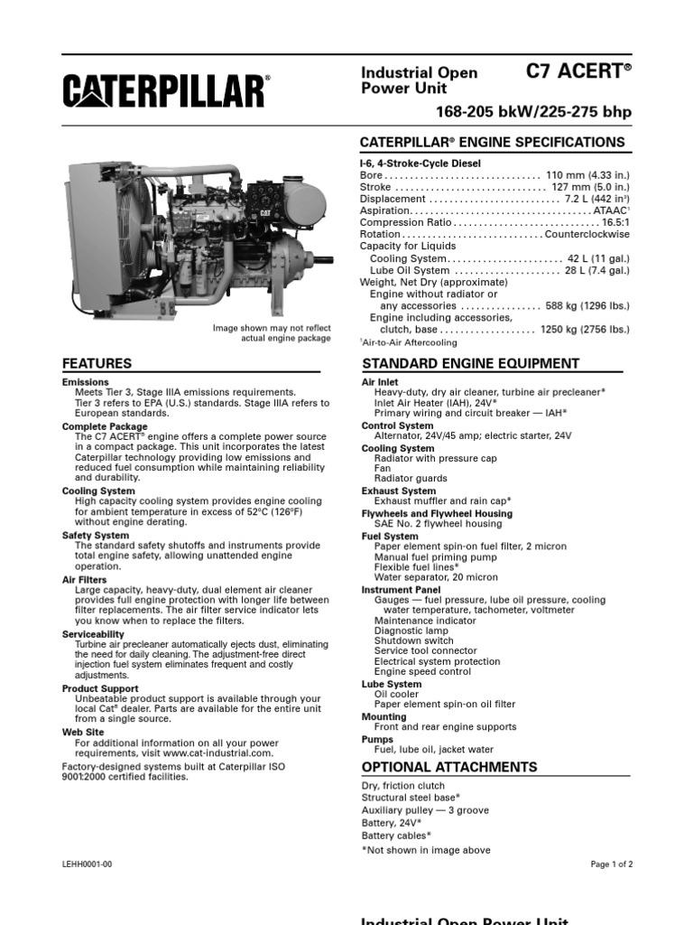 C7 ACERT® ATAAC INDUSTRIAL OPEN POWER UNIT 168-205 BKW