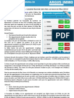 Baromètre Immobilier Tunisie ArgusImmo Mai 2012