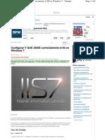 Configurar ASP IIS7