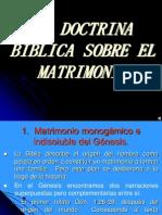 Doctrina Sobre El Matrimonio en El At