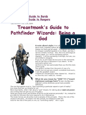 Treantmonk's Guide to Wizards Being | D20 System | Dungeons
