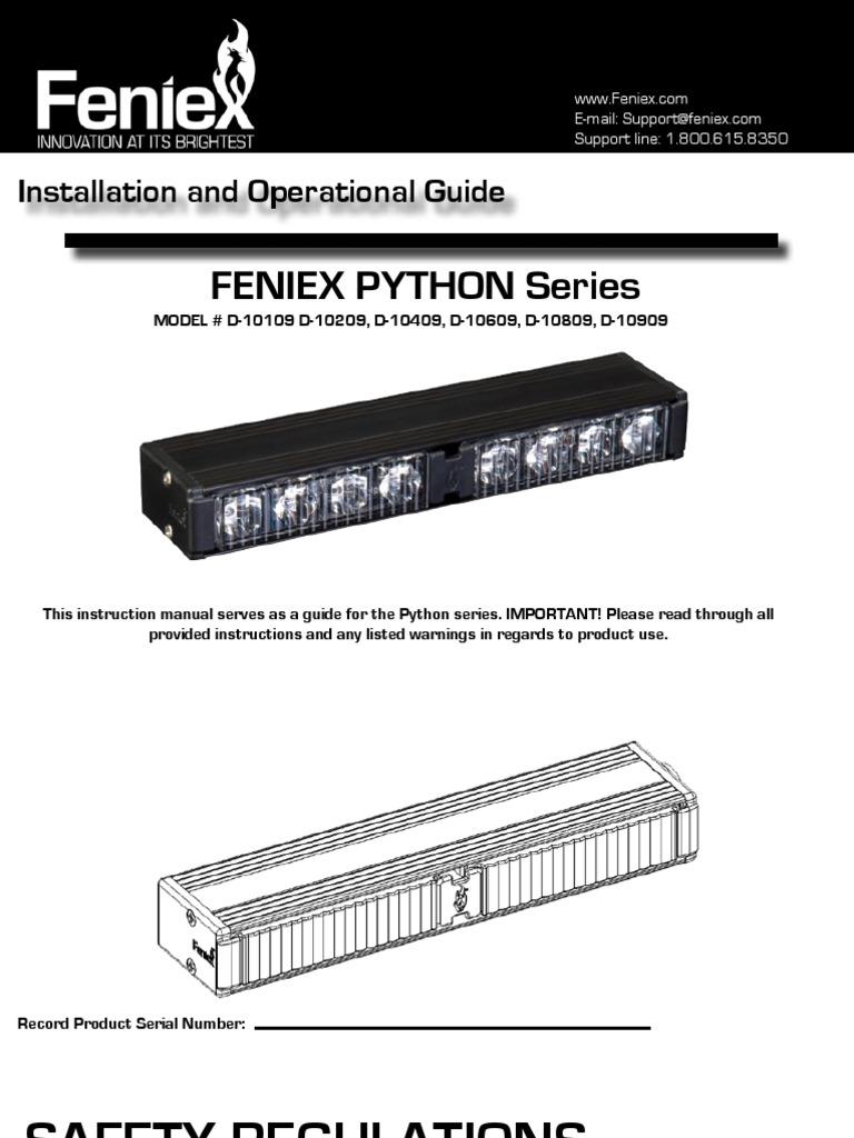 feniex python copyright electrical connector rh scribd com
