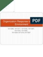 Organisation Response to External Environment (1)
