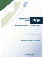 REG Bâtiments tertiaires & haute qualité environnementale (hqe) _référentiel technique de certfication _hqe2006