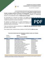 PADRÓN GUERRERO CUMPLE REGIÓN CENTRO, MUNICIPIO JOSÉ JOAQUÍN DE HERRERA