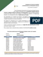 PADRÓN GUERRERO CUMPLE REGIÓN CENTRO, MUNICIPIO JUAN R. ESCUDERO