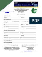 2012 Precon Registration Form