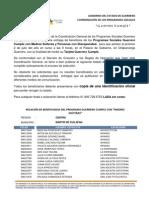 PADRÓN GUERRERO CUMPLE REGIÓN CENTRO, MUNICIPIO MÁRTIR DE CUILAPAN