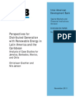 Perspectives for Distributed Generation with Renewable Energy in Latin America and the Caribbean